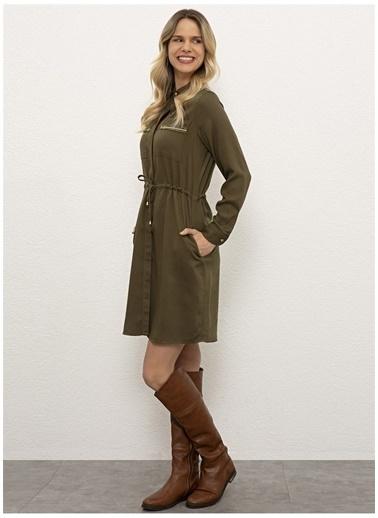 U.S. Polo Assn. U.S. Polo Assn. Kadın Elbise G082SZ032.000.1091144.VR027 Haki